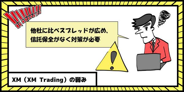 XM(XM-Trading)の弱みのセクション画像