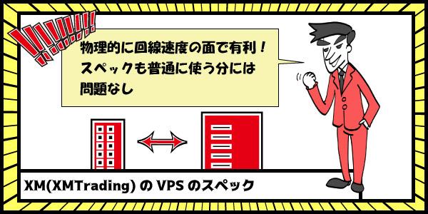XM(XMTrading)のVPSのスペックのセクション画像