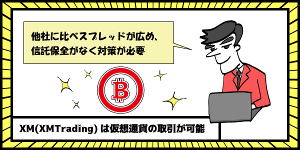 XM(XMTrading)は仮想通貨の取引が可能のセクション画像